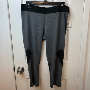 NWT Adidas Alphaskin Gray Leggings. Size L